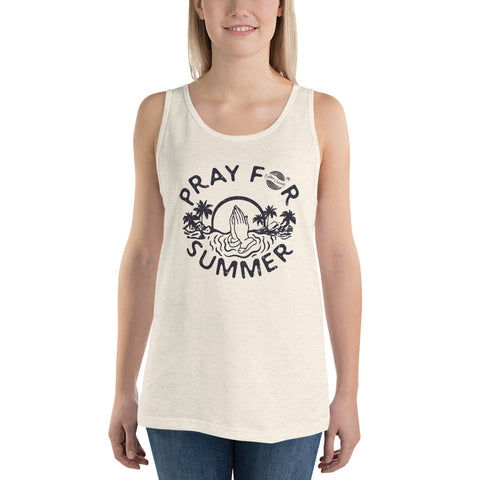 Endless Summer Inc. Originals Pray For Summer Adult Unisex Tank Top Oatmeal Triblend / XS - think-endless-summer-inc