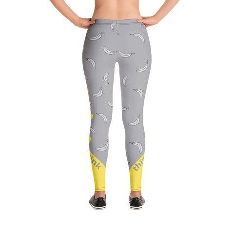 Image of Bananas About Summer Designer Leggings XS - think-endless-summer-inc