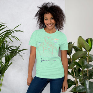 ENDLESS SUMMER Inc Summer Love Flamingo Heart Graphic T-Shirt - Short-Sleeve Adult Unisex Heather Mint / S - think-endless-summer-inc