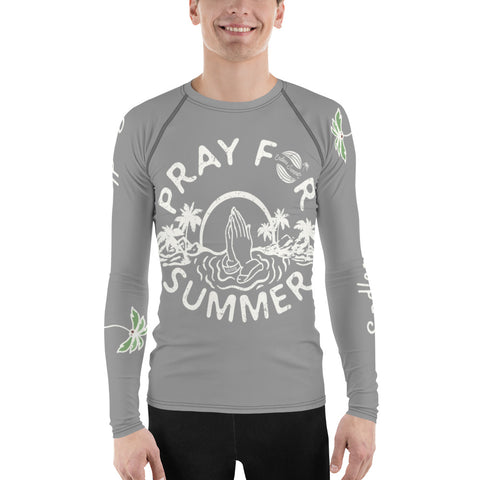Pray For Summer Men's Premium Design Rash Guard - Quad Stretch Athletic Design 2XL - think-endless-summer-inc