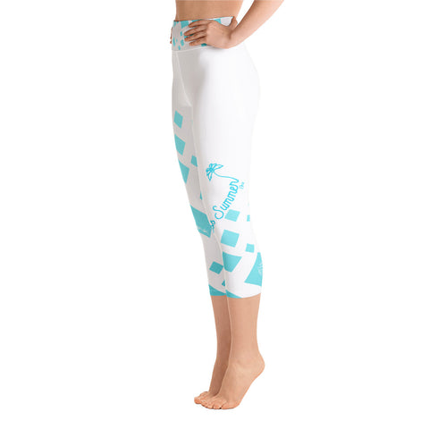 Image of Chill Factor High Waist Premium Quad Stretch Yoga Capri Leggings [variant_title] - think-endless-summer-inc