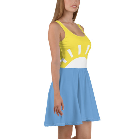 Image of Womens Sunset Skater Dress - la-pool-guys