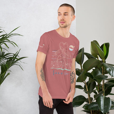 Image of ENDLESS SUMMER Inc Summer Love Flamingo Heart Graphic T-Shirt - Short-Sleeve Adult Unisex [variant_title] - think-endless-summer-inc
