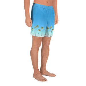 Palm Life Endless Summer Inc. All-Over Print Custom Men's Athletic Long Shorts