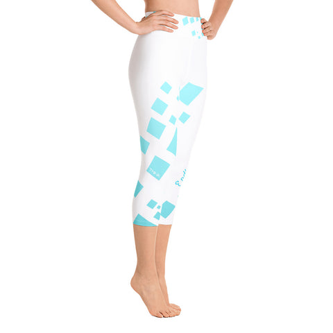 Image of Chill Factor High Waist Premium Quad Stretch Yoga Capri Leggings - la-pool-guys