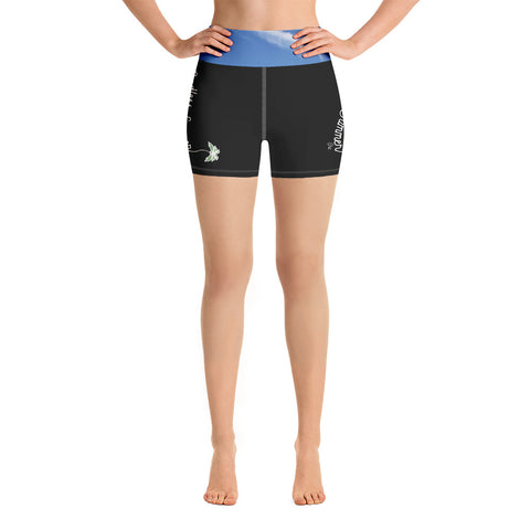 Endless Summer Black Sky Yoga Shorts With Inside Pocket - Premium Athletic Comfort Fit Fashionable Sportswear XS - think-endless-summer-inc