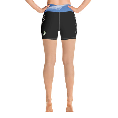 Endless Summer Black Sky Yoga Shorts With Inside Pocket - Premium Athletic Comfort Fit Fashionable Sportswear [variant_title] - think-endless-summer-inc