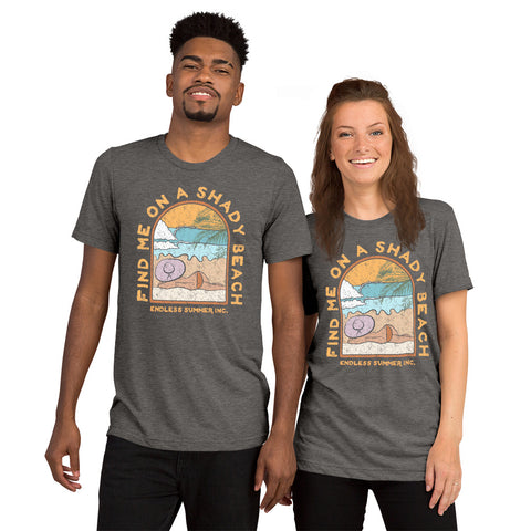 Find Me On a Shady Beach Short sleeve Unisex T-shirt Grey Triblend / XS - think-endless-summer-inc