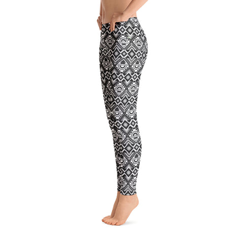 Ultra 1990's Style Tribal Print Ankle Level Leggings - la-pool-guys