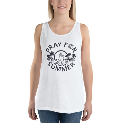Endless Summer Inc. Originals Pray For Summer Adult Unisex Tank Top White / XS - think-endless-summer-inc