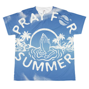 Pray For Summer All-over print youth sublimation T-shirt XS - think-endless-summer-inc