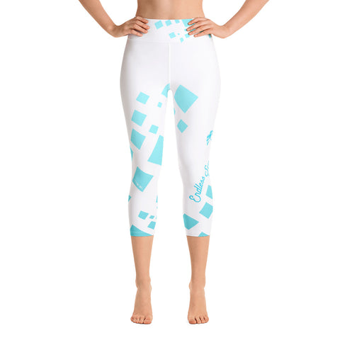 Image of Chill Factor High Waist Premium Quad Stretch Yoga Capri Leggings XS - think-endless-summer-inc
