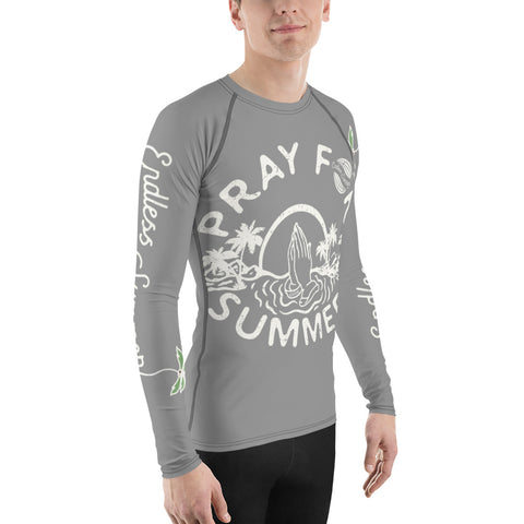 Pray For Summer Men's Premium Design Rash Guard - Quad Stretch Athletic Design [variant_title] - think-endless-summer-inc