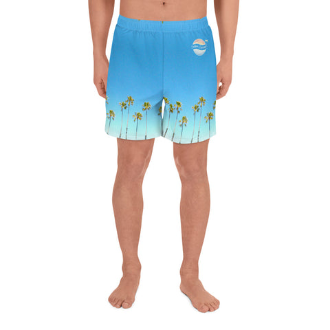 Image of Palm Life Endless Summer Inc. All-Over Print Custom Men's Athletic Long Shorts - la-pool-guys