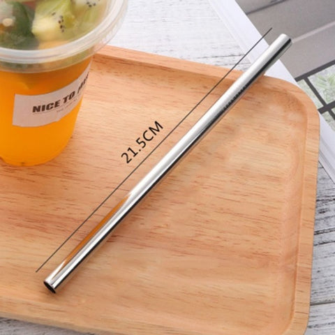 Endless Summer ONE STRAW Eco Friendly Portable, Reusable Stainless Steel Drinking Straw with Hard Case and Cleaner For Camping, Picnics, Travel A1 diameter 8MM - think-endless-summer-inc