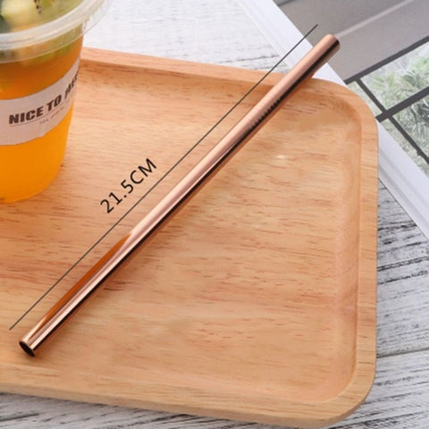 Endless Summer ONE STRAW Eco Friendly Portable, Reusable Stainless Steel Drinking Straw with Hard Case and Cleaner For Camping, Picnics, Travel A2 diameter 8MM - think-endless-summer-inc