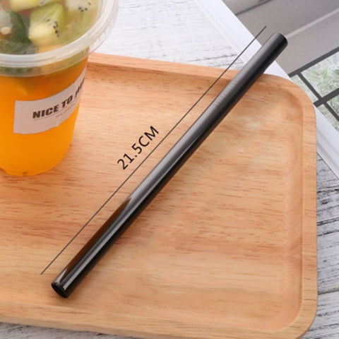 Endless Summer ONE STRAW Eco Friendly Portable, Reusable Stainless Steel Drinking Straw with Hard Case and Cleaner For Camping, Picnics, Travel B4 diameter 10MM - think-endless-summer-inc