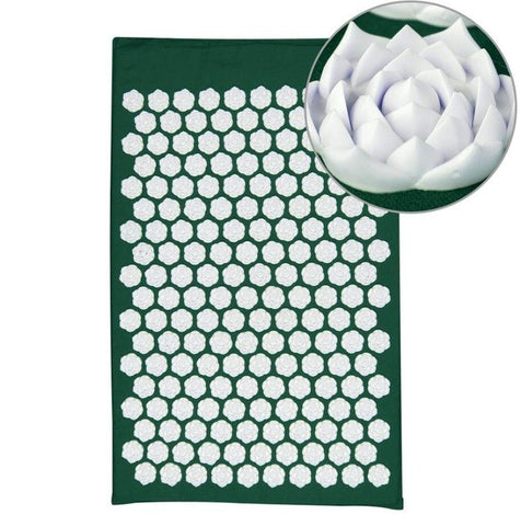 Lotus Acupressure Massage Mat Dark green lotus mat - think-endless-summer-inc