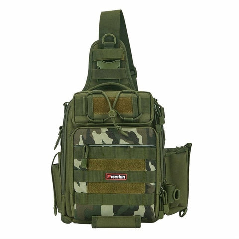 Tactical Waterproof Shoulder Bag Green Camouflage - think-endless-summer-inc