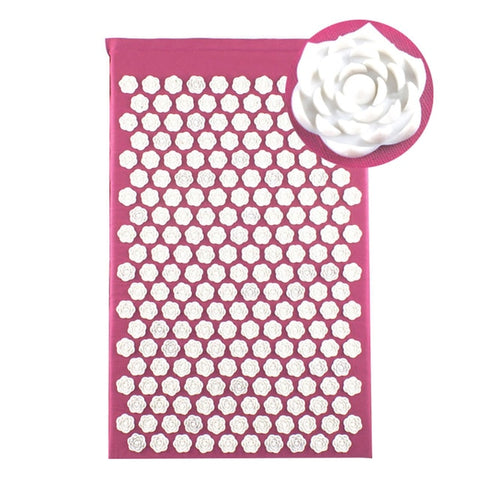 Lotus Acupressure Massage Mat Pink lotus mat - think-endless-summer-inc