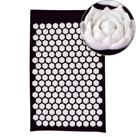 Lotus Acupressure Massage Mat black lotus mat - think-endless-summer-inc