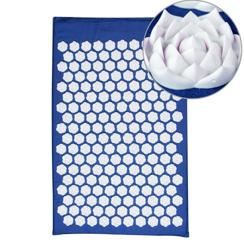 Lotus Acupressure Massage Mat blue lotus mat - think-endless-summer-inc