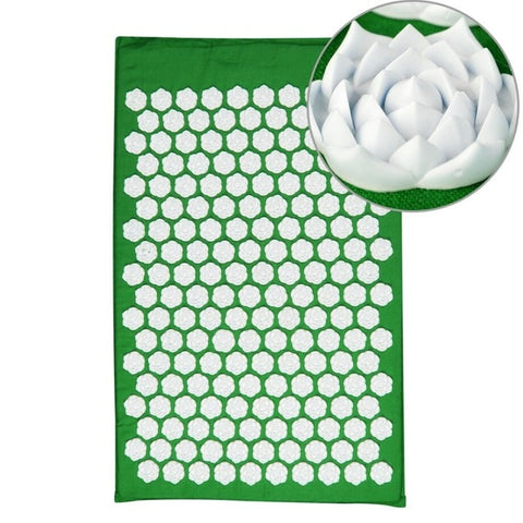 Lotus Acupressure Massage Mat green lotus mat - think-endless-summer-inc
