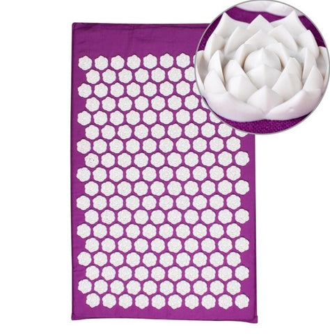 Lotus Acupressure Massage Mat purple lotus mat - think-endless-summer-inc