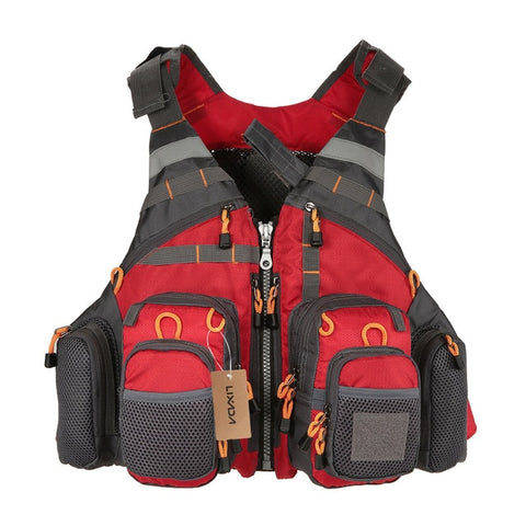 Breathable Utility Fishing Vest with foam5 / One Size - think-endless-summer-inc