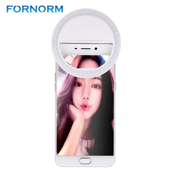 USB Rechargeable 36 Led Selfie Ring Flash Light