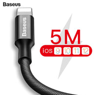 USB Cable For iPhone, Baseus Fast Data Charging Charger Cable For iPhone XS Max XR X 8 7 6 6S 5 5S iPad Cord Mobile Phone Cable