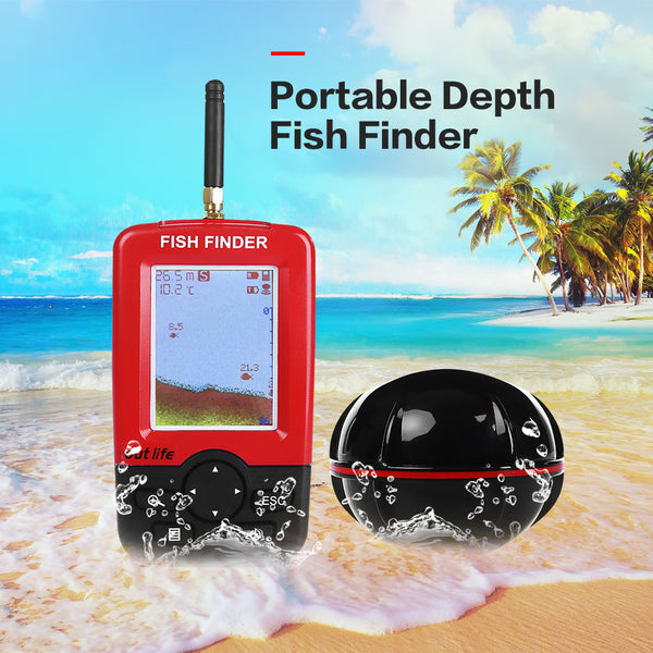 Portable Depth Fish Finder with 100 M Wireless Sonar Sensor Echo Sounder