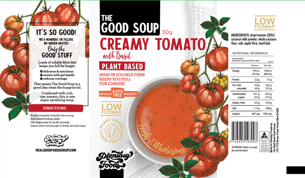 THE GOOD SOUP Creamy Tomato & Basil