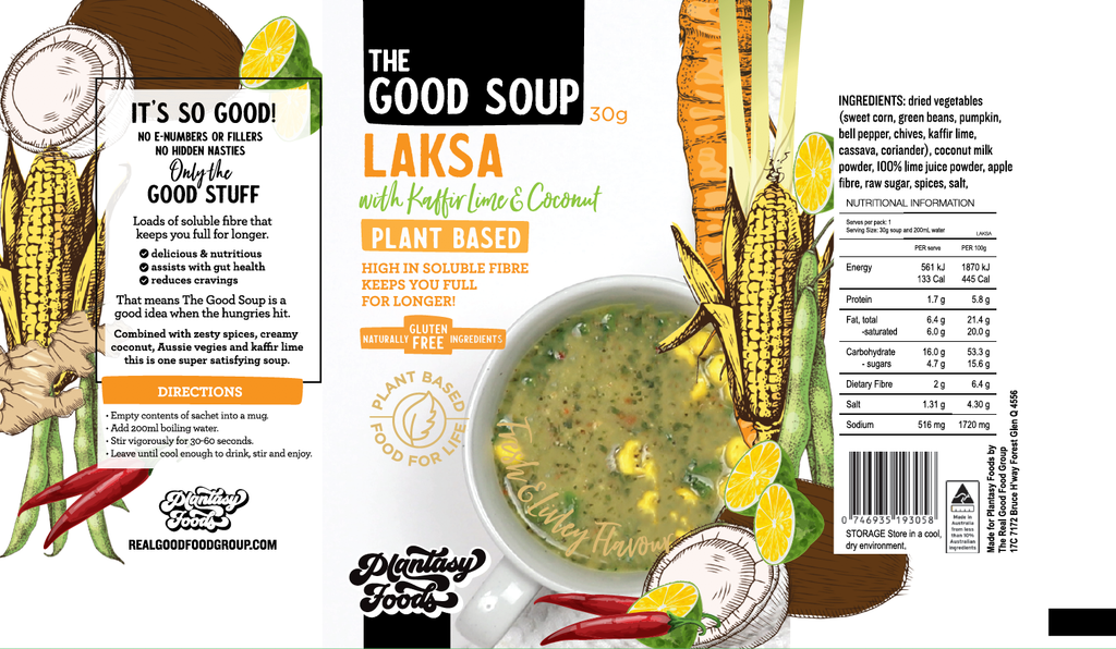 THE GOOD SOUP Laksa with Lime & Coconut