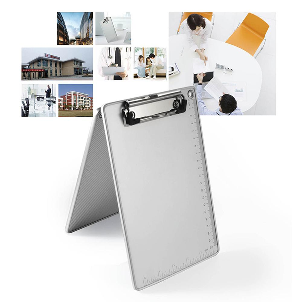 Aluminum Alloy Clipboard Writing Board Clip File Folder Document Holder UK