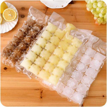 New 10 Pcs Ice Cube Mold Self-Seal Ice Cube Bags Transparent Disposable Faster Freezing Maker Ice-making Bag Kitchen Gadgets (Clear)