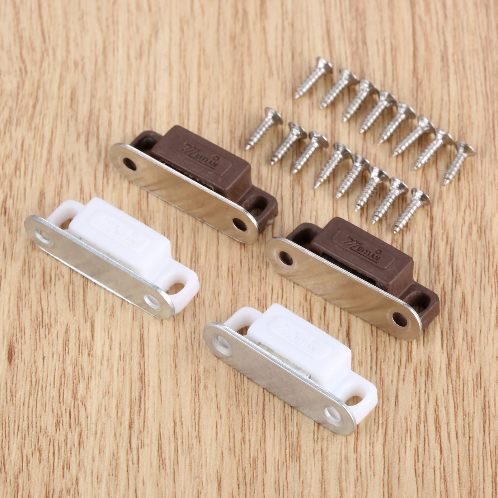 5pcs Small Magnetic Door Catches Kitchen Cupboard Wardrobe Cabinet L Slowmoose