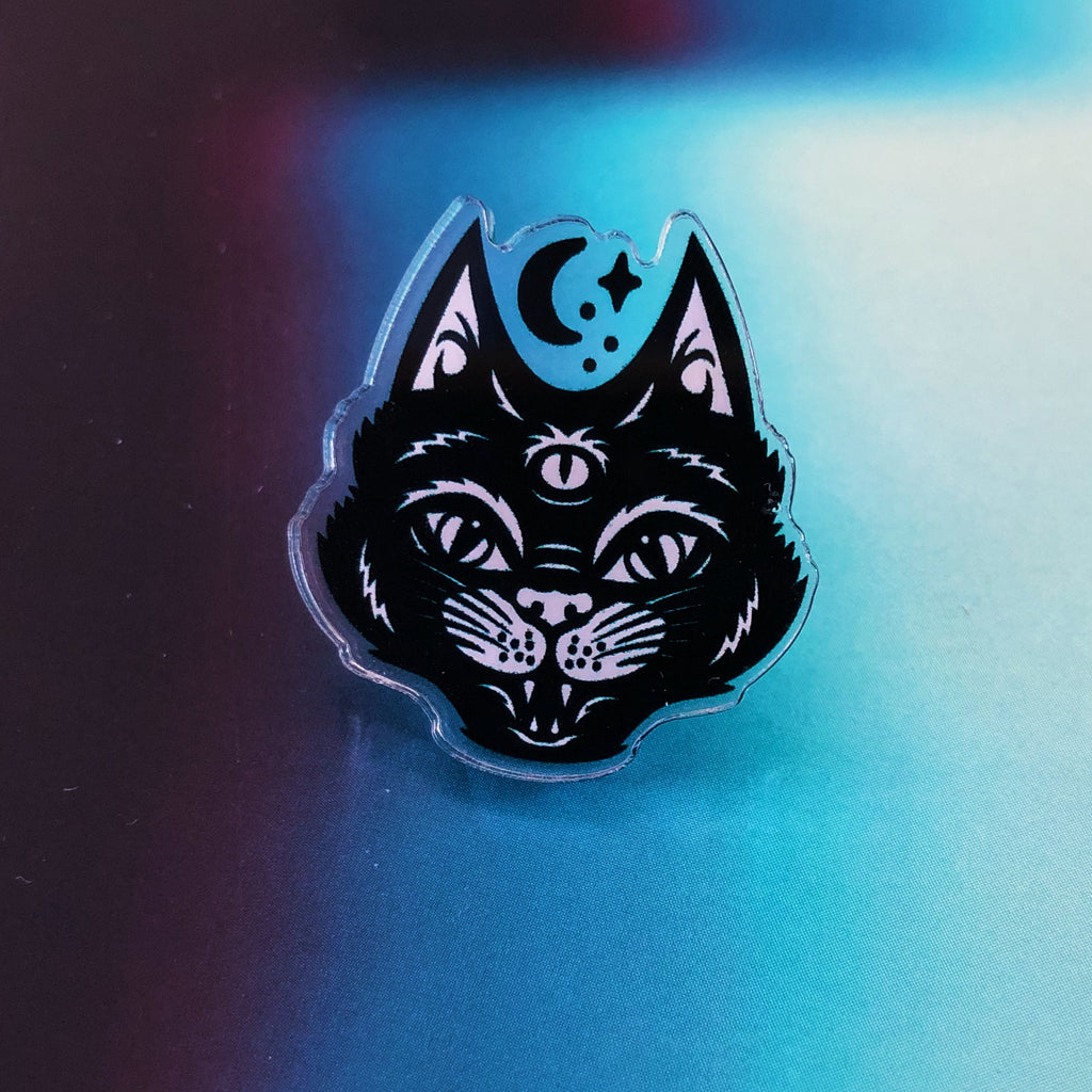 Strange Magic Three-Eyed Cat Pin