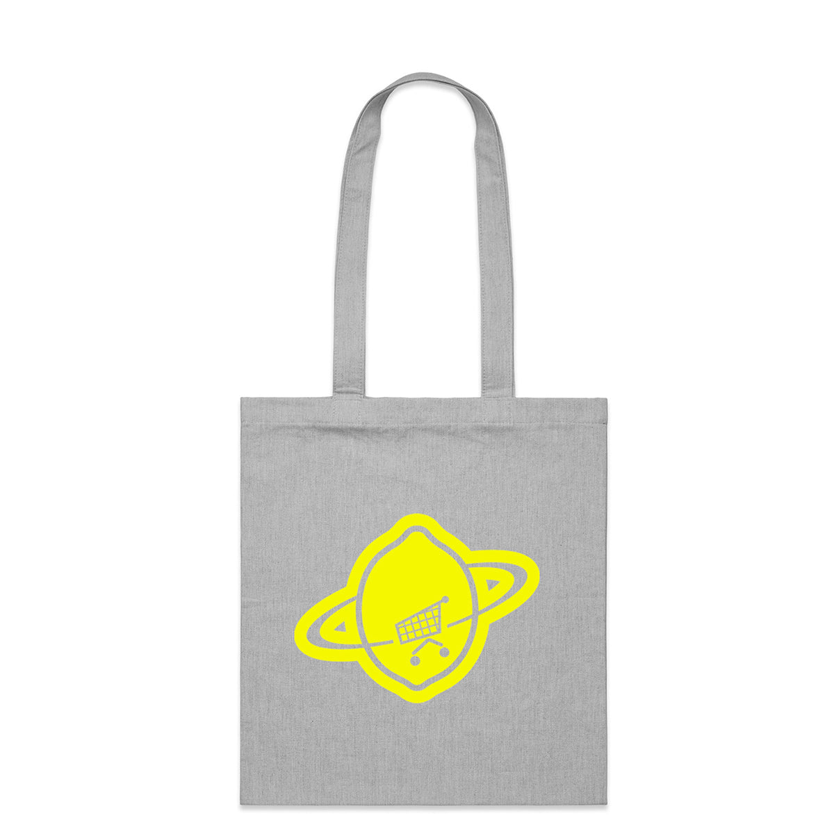 Pop Grey Logo Tote Bag