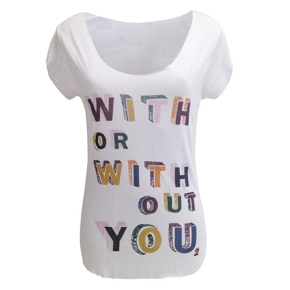 'With Or Without You' T-Shirt