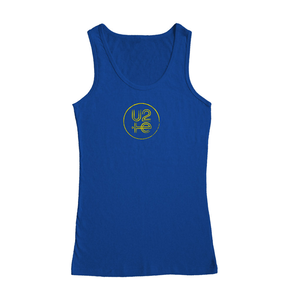 U2ie Tour Logo Women's Blue Tank Top
