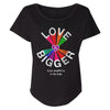 U2 Love Is Bigger Black Ladies T-shirt