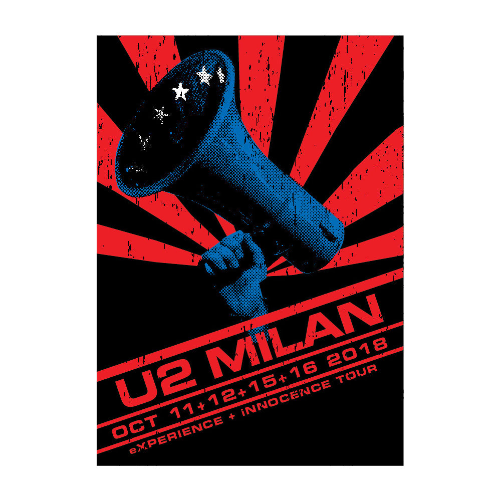 U2 eXPERIENCE + iNNOCENCE Milan Event Screenprint