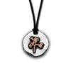 The Joshua Tree Round Silver/Bronze Pendant on Cord