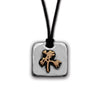 The Joshua Tree Square Silver/Bronze Pendant on Cord
