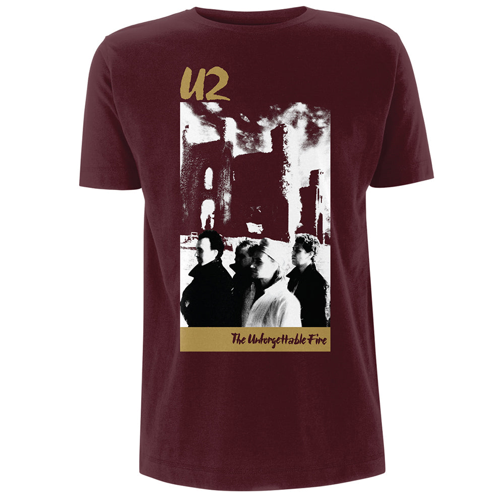 U2com - The Unforgettable Fire Burgundy T-