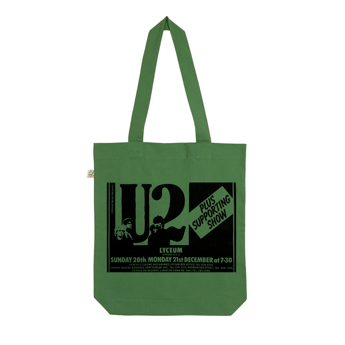 U2 October Lyceum Green Tote Bag
