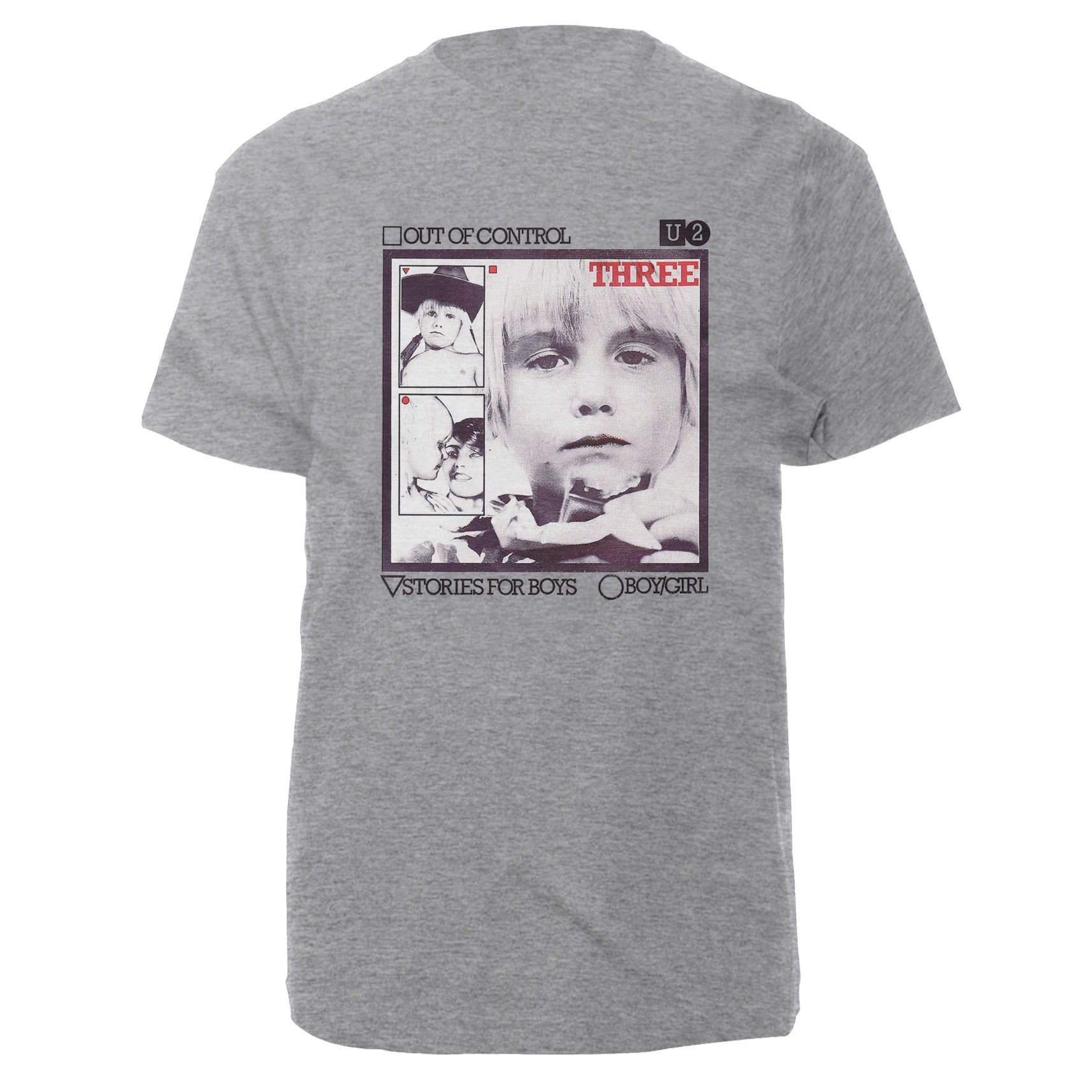U2-3 Out of Control Photo Grey T-Shirt