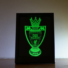 "Load image into Gallery viewer, ""3D"" Picture Framed PL Trophy Lamp"
