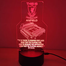 "Load image into Gallery viewer, ""This Is Anfield"" - 3D Night Lamp"